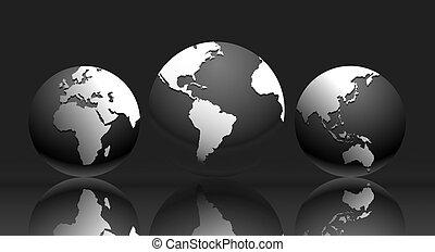 mapa, -, ilustração, mundo