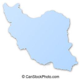 mapa,  irán