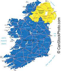 mapa, irlanda