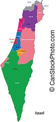 mapa, israel