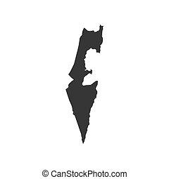 mapa,  israel, silueta