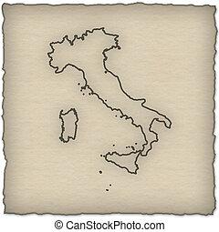 mapa, -, itália