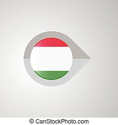 mapa, itália, ponteiro, bandeira, vetorial, desenho, navegação