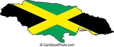 mapa, jamaica