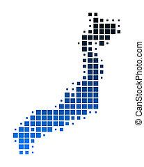 mapa, japão