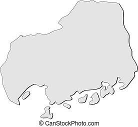 mapa, (japan), -, hiroshima
