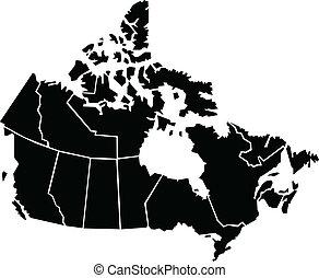 mapa, kanada