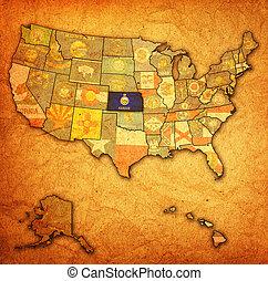 mapa, kansas, estados unidos de américa