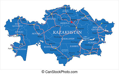 mapa, kazakhstan