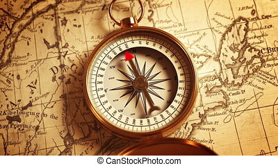 mapa, kierunek, busola, wskazywanie
