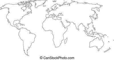 mapa, kontur