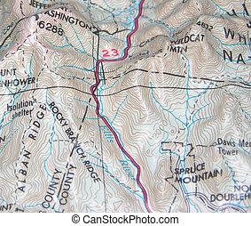 mapa, kontura