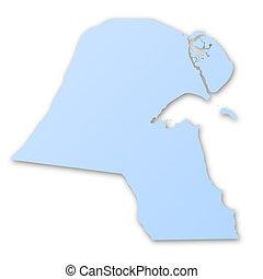 mapa,  Kuwait