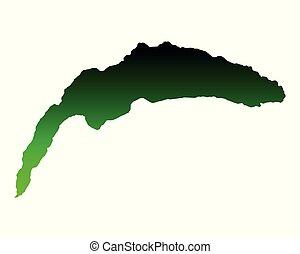 mapa, lago ginebra