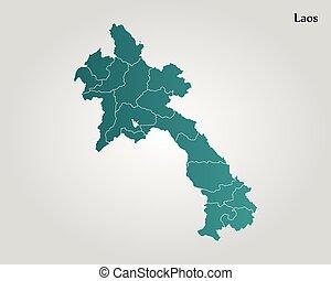 mapa, laos
