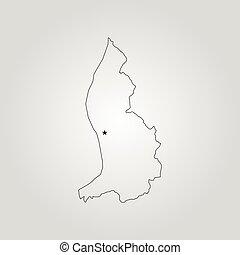 mapa, liechtenstein