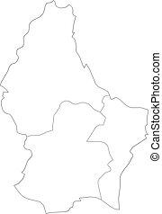 mapa, luxemburgo