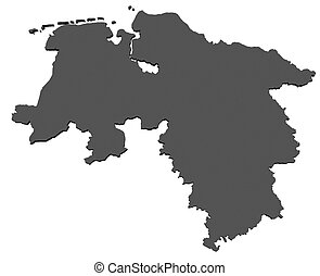 mapa, más bajo,  -, alemania, Sajonia