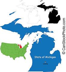 mapa, michigan