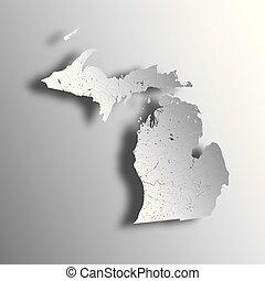 mapa, michigan, rivers., lagos