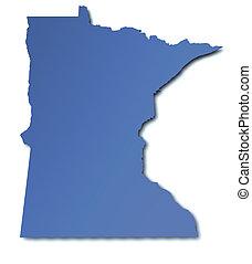 mapa, -, minnesota, estados unidos de américa