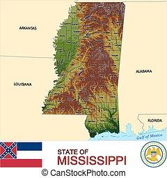 mapa, mississippi, hrabstwa