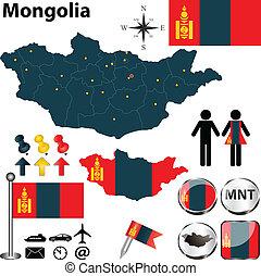mapa, mongolia