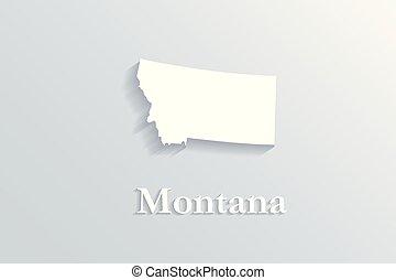 mapa, montana