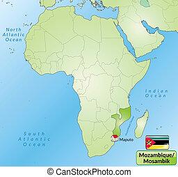 mapa, mozambique