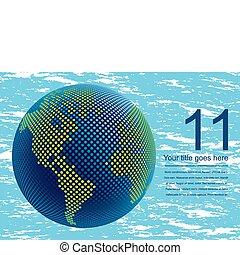 mapa mundial, digital, 3d, design.