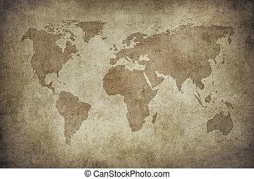 mapa mundial, grunge