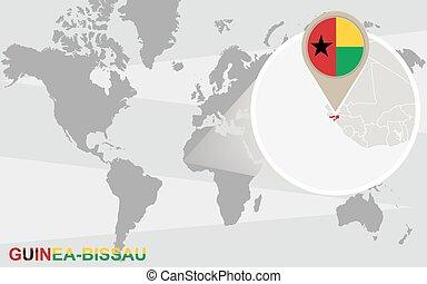 mapa mundial, guiné-bissau, ampliado