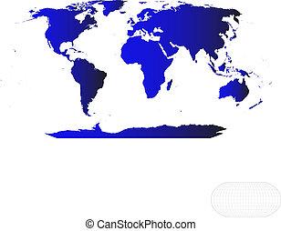 mapa mundial, vetorial