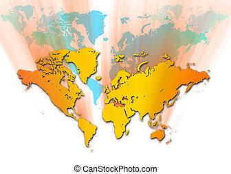 mapa, mundo