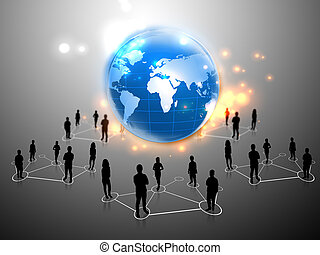 mapa, mundo, equipo, empresarios