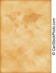 mapa, mundo velho