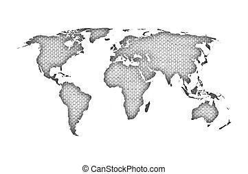 mapa, mundo velho, linho