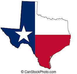 mapa, nacional, cores, texas