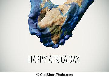 mapa, nasa), afryka, tekst, (furnished, dzień, szczęśliwy