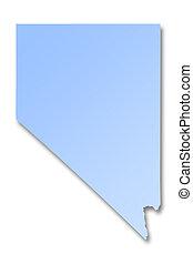 mapa,  Nevada