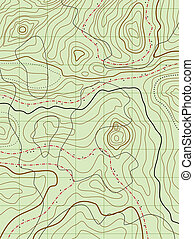 mapa, nie, abstrakcyjny, wektor, nazwiska, topograficzny