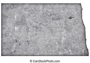 mapa, norte, concreto, resistido, dakota