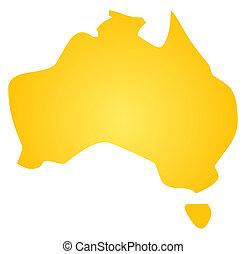 mapa, o, austrálie
