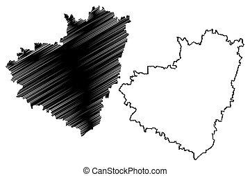 mapa, oblast, samara