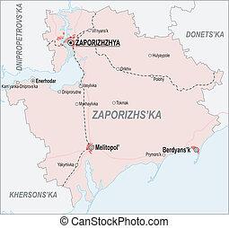 mapa, oblast, zaporizhia