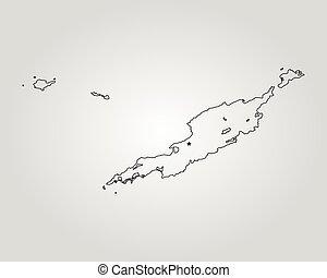 mapa, od, anguilla