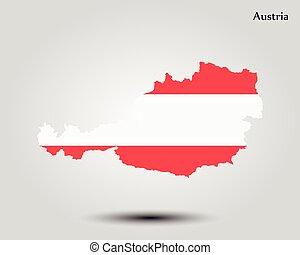 mapa, od, austria