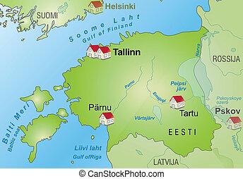 mapa, od, estonia
