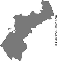 mapa, ostrobothnia, -, (finland), północny