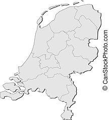 mapa, países bajos